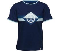 Jungen Block Stripe T-Shirt Navy