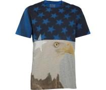 Converse Herren Eagle Collage Vintage T-Shirt Grau
