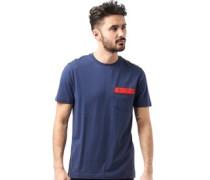 Original Penguin Herren Embroide Logo T-Shirt Blau