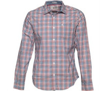 Original Penguin Mens P55 Plaid Shirt Deep Water