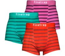 Firetrap Herren Three Pack Multi Stripe Leibchen und Slip Set Weiß
