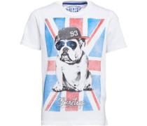 Jungen Flag Bulldog T-Shirt Weiß
