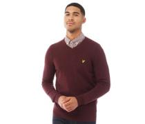 Pullover mit V-Ausschnitt Burgunder