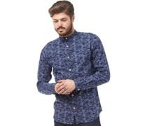 Herren Monza Hemd mit langem Arm Blau