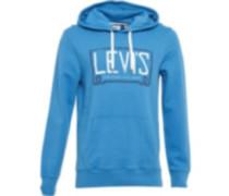 Levi's Herren Graphic PO Roped Kapuzentop Blau