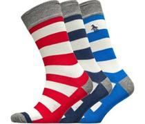 Rugby Socken Mehrfarbige Streifen