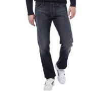 Herren 504 Jeans mit geradem Bein Verblasstes Dunkelblau