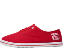 Henleys Mens Stash Plimsolls Red/White