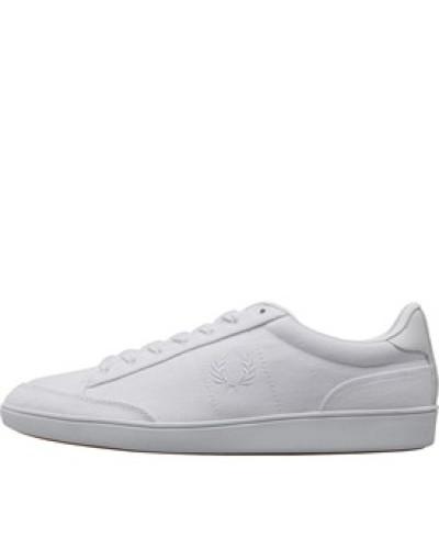 Hopman Twill Leder Sneakers Weiß