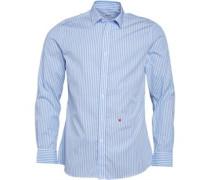 Moschino Herren Hemd mit langem Arm Gestreift