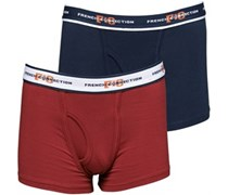 French Connection Junior Two Pack Boxers Classic Navy