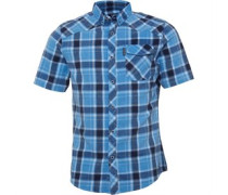 Mens Melker Shortsleeve Check Shirt Candre Blue Check