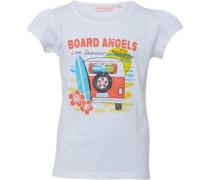 Mädchen Campervan T-Shirt Weiß