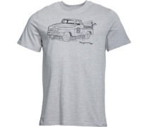 Druck T-Shirt Hellgraumeliert