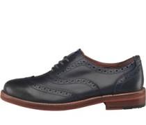 Herren Oxford Brogue Schuhe Navy