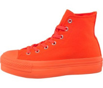 Damen CT All Star Platform Hi Mono Sneakers Orange
