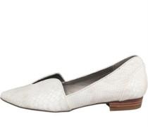 Little Mistress Womens Croc Style Flats White