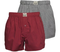 Herren Small Geprüft 2 Pack Boxershorts in lose Passform Rot