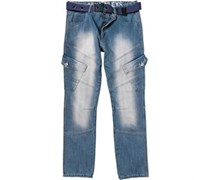 Henleys Herren Jeans in regulär Passform Blau