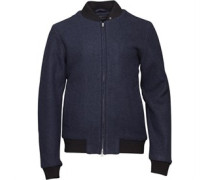 Peter Werth Herren Colins Wool Harrington Jacke Blau