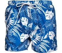 Herren Floral Cobalt Badeshorts Blau