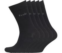 Mens 5 Pack Socks Black