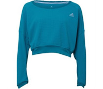 adidas Womens Cozy Wide Neck Climalite Running Pullover Equipment Green