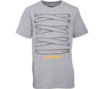 Converse Junior All Laced Up T-Shirt Vintage Grey Heather