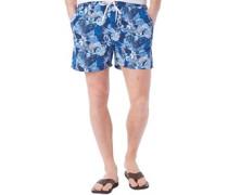 Herren Tropical Badeshorts Blautöne