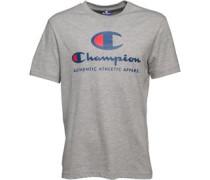 Herren Large Logo T-Shirt Graumeliert