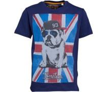 Jungen Flag Bulldog T-Shirt Blau