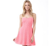 Superdry Womens 90's Lace Dress Bright Pink