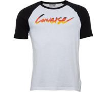 Converse Mens Core Gradient Raglan Baseball T-Shirt White