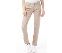 Damen Polka Dot Skinny Jeans Steingrau