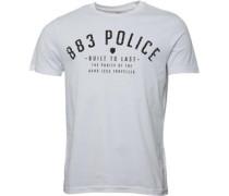 883 Police Herren Bronson T-Shirt Weiß