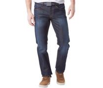 Herren Jeans mit geradem Bein Verblasstes Dunkelblau