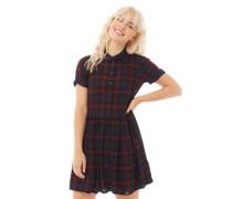 Philipa Check Kleid Rot