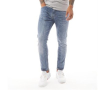 Moriarty Jeans in Slim Passform Dunkelsteingrau