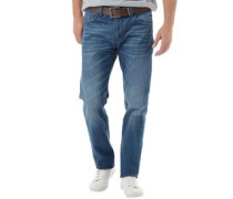 Crosshatch Herren Lartoons ed Midwash Jeans in regulär Passform Blau