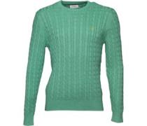 Farah Vintage Herren Lewes Sweater Pullover mit Rundhalsausschnitt Grün