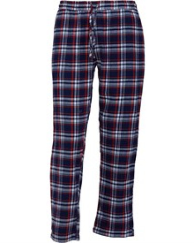 Terrence Flanell Freizeithose Navy/Rot
