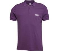 Moschino Mens Gym Polo Purple Grape/White