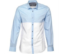 Ted Baker Mens Pannell Colour Block Shirt Blue