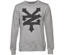 Zoo York Herren State Big Logo Athletic Sweatshirt Grau