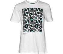 Ben Sherman Herren London Vinyl T-Shirt Bright White