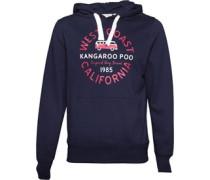 Kangaroo Poo Herren Kapuzentop Blau