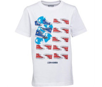 Converse Junior Sneaker And Stipes T-Shirt White