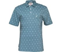 Original Penguin Herren All Over Anchor Print Aegean Polohemd Blau