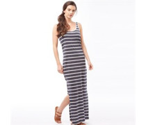 Damen Zada Stripe Maxi Kleid Navy