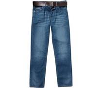 Onfire Herren Jeans mit geradem Bein Blau